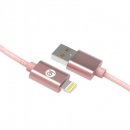 New Charge & Sync Braided Lightning® To USB Cable, 6ft (Rose Gold)