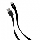 Get New Flat USB-C™ To USB-A Cable, 4ft (Black) Iessentials(r)
