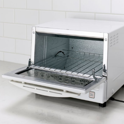 New FlashXpress™ 1,300-Watt Toaster Oven With Double Infrared Heating (White)