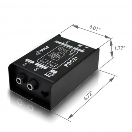 New 1/4   Instrument To Balanced & Unbalanced Direct Box Pyle Pro(r)