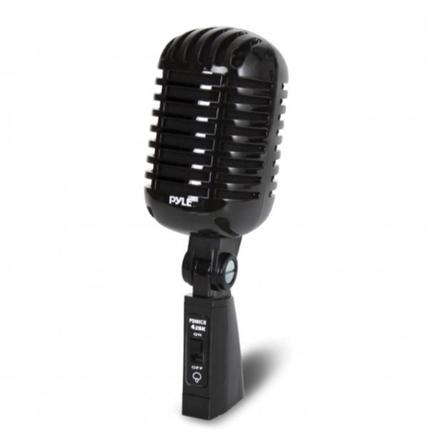 New Classic Retro Vintage-Style Dynamic Vocal Microphone (Black) Pyle Pro(r)