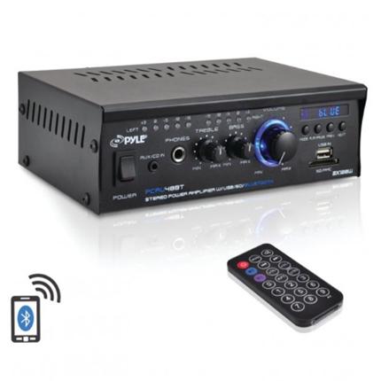 New 120-Watt X 2 Mini Blue Series Bluetooth® Stereo Power Amp Pyle Home(r)